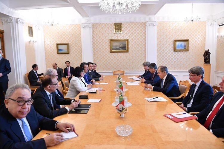 Сахиба Гафарова встретилась с Сергеем Лавровым -  ВИДЕО