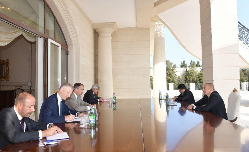 Президент Ильхам Алиев принял специального представителя Европейского Союза по Южному Кавказу