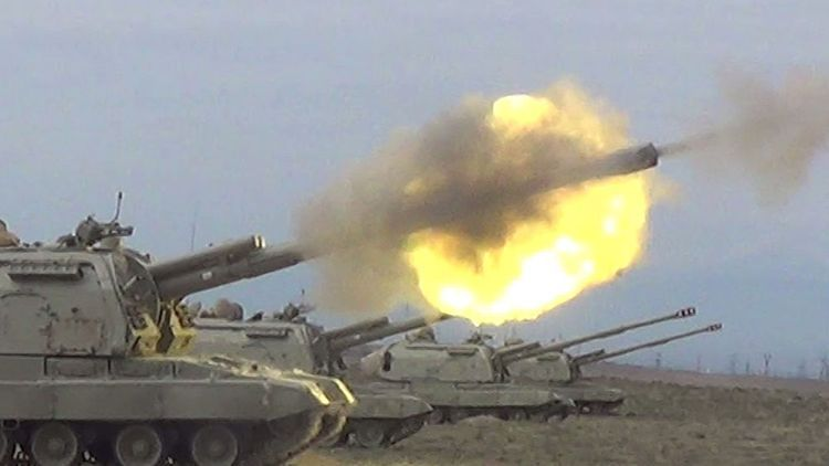 "Combat firing carried out from ""Msta-S"" self-propelled howitzer -  VIDEO"
