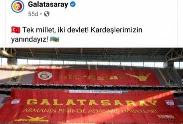 """""""Qalatasaray""""dan Azərbaycana dəstək mesajı"""