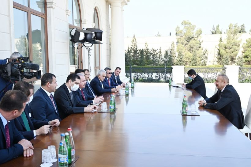President Ilham Aliyev received delegation led by Speaker of Grand National Assembly of Turkey