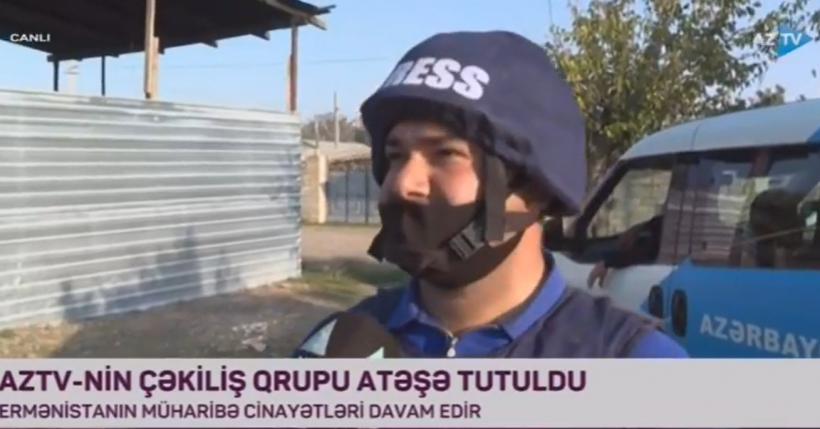 AZTV-nin əməkdaşı düşmən atəşi nəticəsində yaralanıb