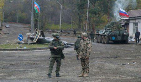 TASS: Rusiya sülhməramlıları Azərbaycanın Şuşadan çıxan ilk hərbi kalonunu müşaiyət edib