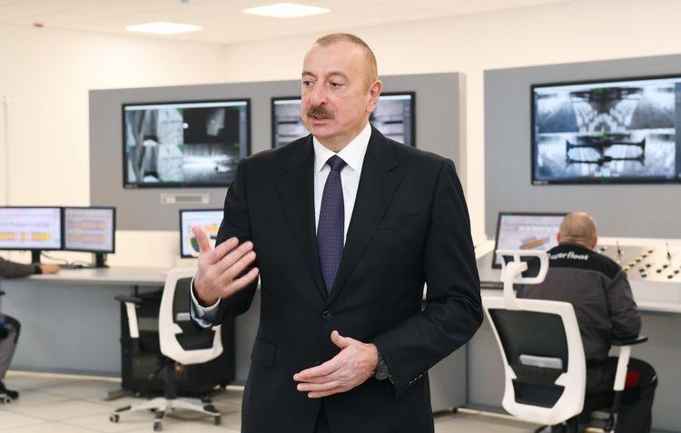 İlham Əliyev Sumqayıtda iki zavodun təməlini qoydu, müəssisənin açılışını etdi