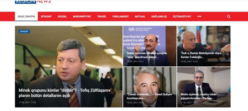 Azərbaycanda yeni xəbər saytı yaradıldı -  Regionnews.az