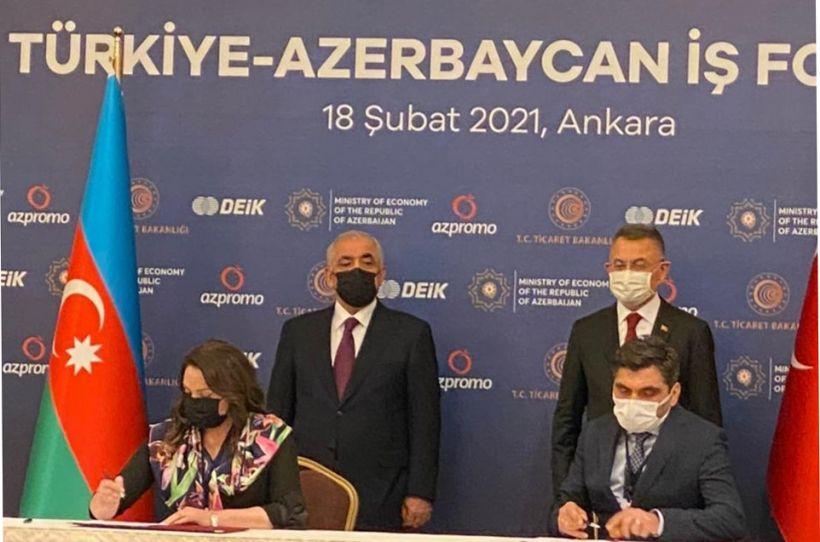 Bakı Tekstil Fabriki MMC ilə Türkiyənin  Uluslararası Yatırım ve İş Konfederasyonu arasında sənəd imzalanıb