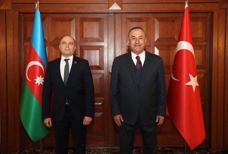 Anar Kərimov Mövlud Çavuşoğlu ilə görüşüb