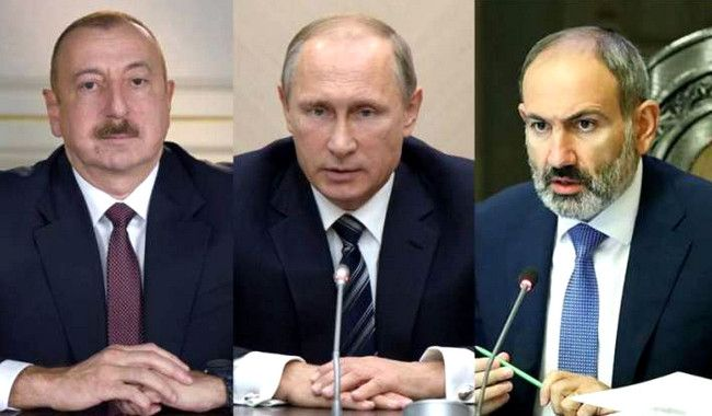 Putinin İlham Əliyev və Nikol Paşinyanla telefon danışığı olub