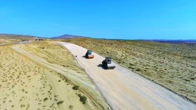 Palçıq vulkanları yerləşən əraziyə yeni avtomobil yolu çəkilir