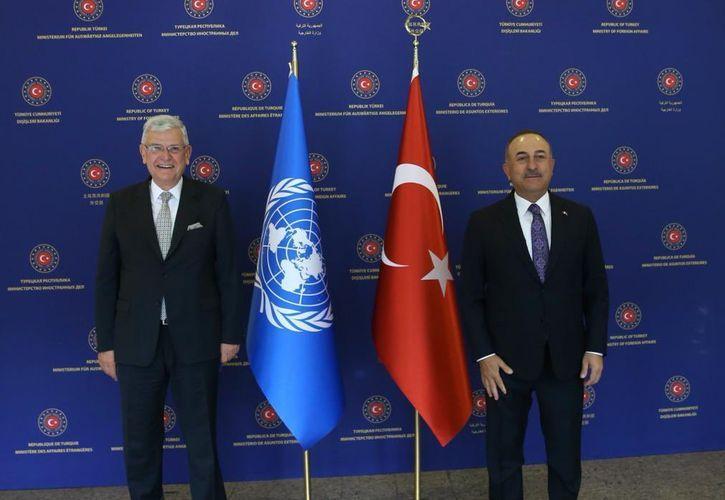 Çavuşoğlu BMT Baş Assambleyasının Prezidenti ilə görüşüb