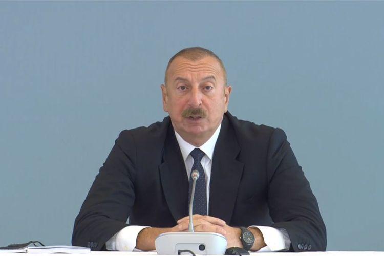"""İlham Əliyev: """"Ermənistan tərəfindən revanş cəhdləri riskləri sıfır olmalıdır"""""""