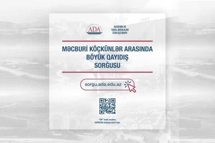 Məcburi köçkünlər arasında Qarabağa qayıdışla bağlı onlayn-sorğu başa çatır