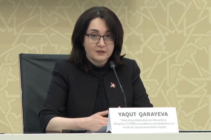 """Yaqut Qarayeva: """"Azərbaycanda epidemioloji vəziyyət nəzarət altındadır"""""""