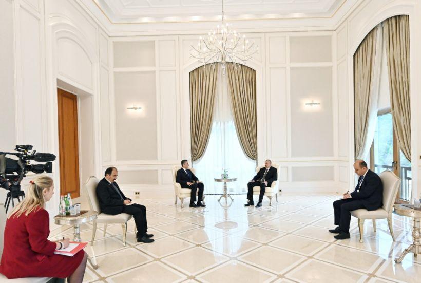 Prezident İlham Əliyev Türkiyənin milli təhsil nazirini qəbul edib