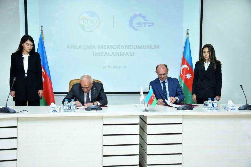 Sumqayıt Dövlət Universiteti ilə Sumqayıt Texnologiyalar Parkı arasında əməkdaşlıq memorandumu imzalandı