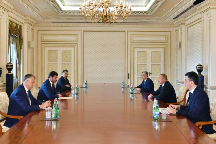 Prezident İlham Əliyev Tbilisi şəhərinin merini qəbul edib