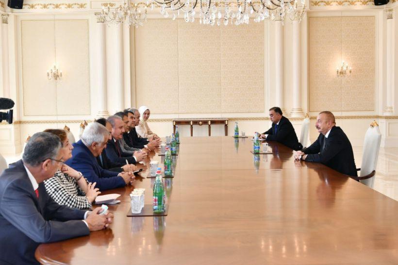 Prezident İlham Əliyev TBMM sədrini qəbul edib