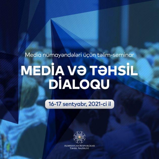 """""""Media və təhsil dialoqu"""" çərçivəsində təlim keçiriləcək"""