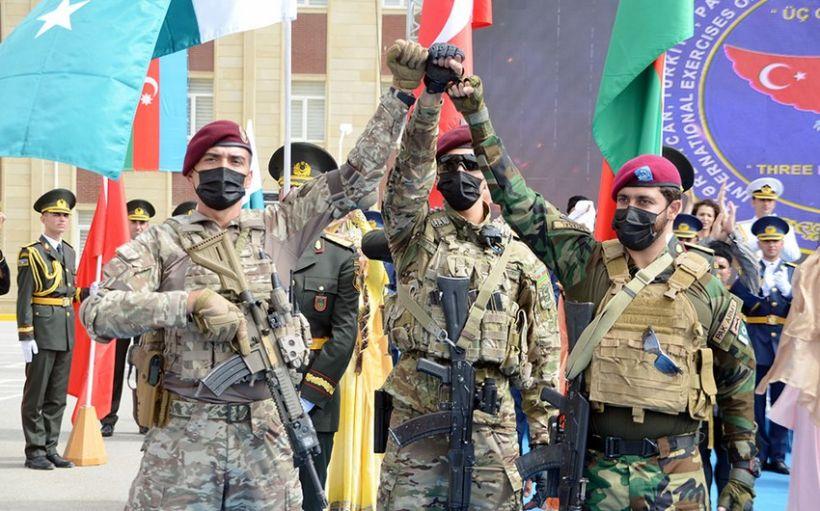 Generallar Azərbaycan, Türkiyə və Pakistan xüsusi təyinatlılarının təlimini izləyib