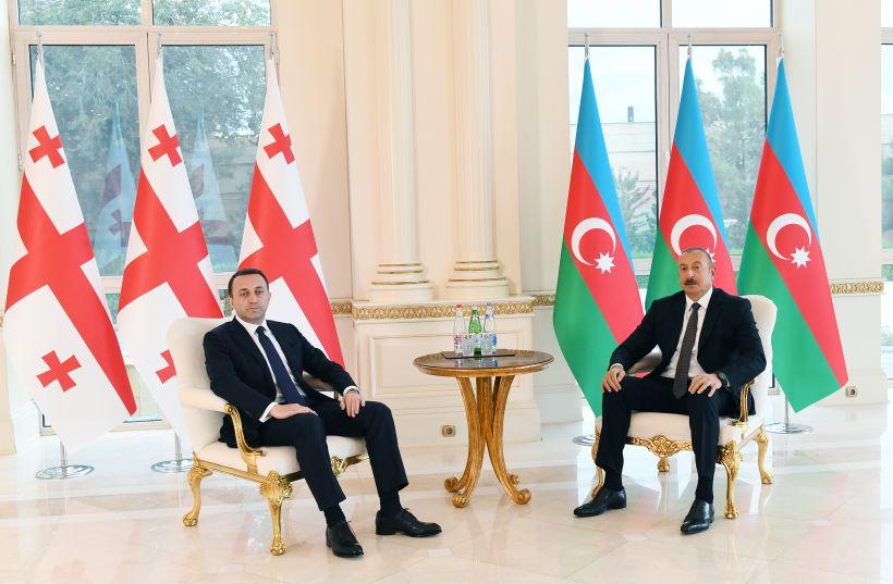 Prezident İlham Əliyev Gürcüstanın Baş naziri ilə görüşüb