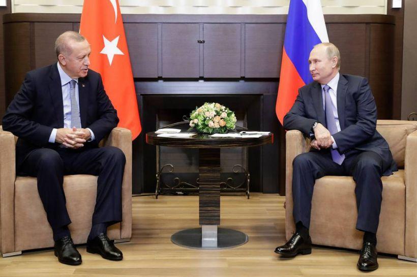 Ərdoğanla Putin arasında görüş başlayıb