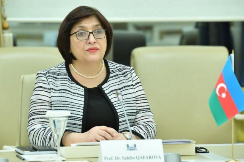 """Sahibə Qafarova:  """"Ermənistan Parlamentinin sədrinin əsassız iddialara cavab verdim"""""""
