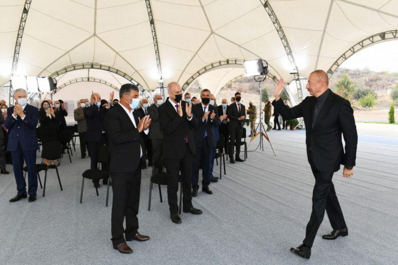 Cəbrayılda böyük bərpa işlərinə start verildi -  Prezident İlham Əliyev rayon ictimaiyyətinin nümayəndələri ilə görüşdü