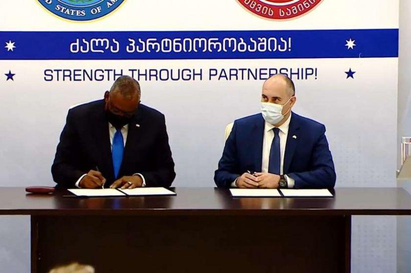 Gürcüstan və ABŞ arasında hərbi əməkdaşlığa dair razılaşma imzalanıb