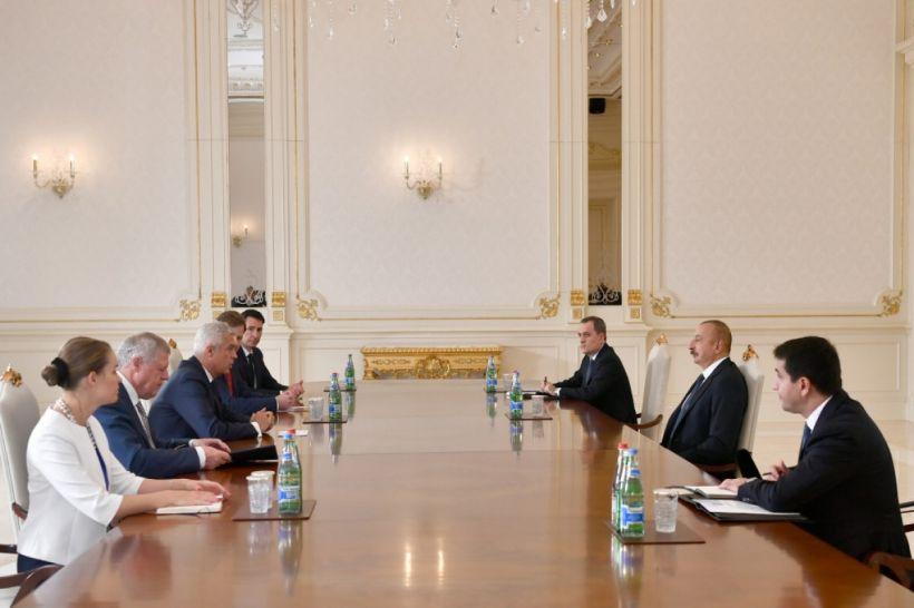Prezident İlham Əliyev Slovakiyanın xarici işlər və Avropa nazirini qəbul edib