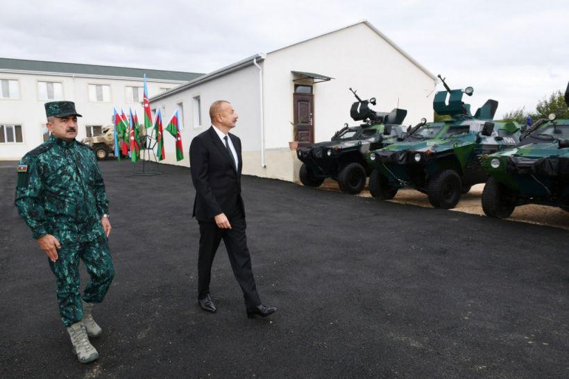 Prezident DSX-nin Zəngilandakı hərbi hissə kompleksində şəraitlə tanış olub