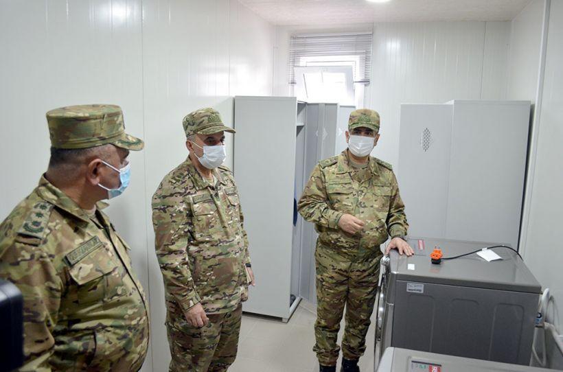 Azad olunmuş rayonlarda yeni hərbi obyektlər istifadəyə verilib